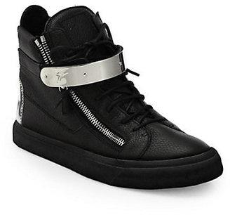 Giuseppe Zanotti Double-Zip Bar High-Top Sneaker