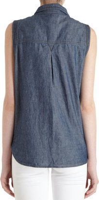 A.L.C. Snap Front Chambray Tee