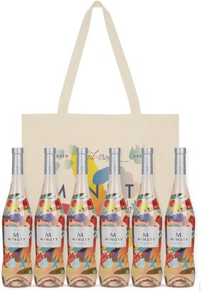 Chateau Minuty M De Minuty Limited Edition Mina & Zosen Rose 2019 - Case Of Six & Tote Bag