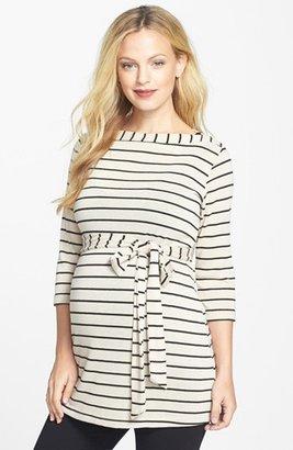 Japanese Weekend Stripe Maternity Tunic