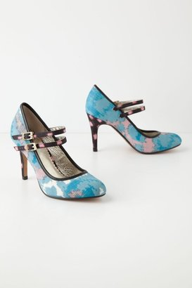 Anthropologie Painted Ikat Mary-Janes