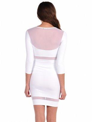Donna Mizani Paneled Mesh Inset Dress