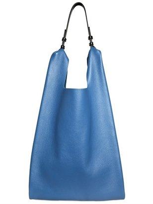 Jil Sander Grainy Leather Market Shoulder Bag