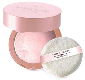 Laura Geller Beauty Baked Body Frosting with Body Puff, Angel Glow 0.85 oz (24 g)