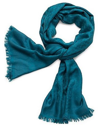 """Tory Burch Allover """"t"""" Jacquard Scarf"""