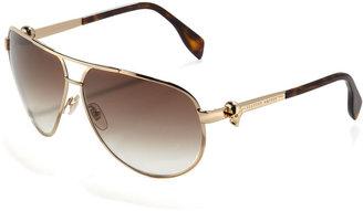 Alexander McQueen Skull-Temple Aviator Sunglasses