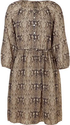 Marc by Marc Jacobs Cylinder grey snake print silk dress