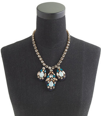 J.Crew Embroidered jewel necklace