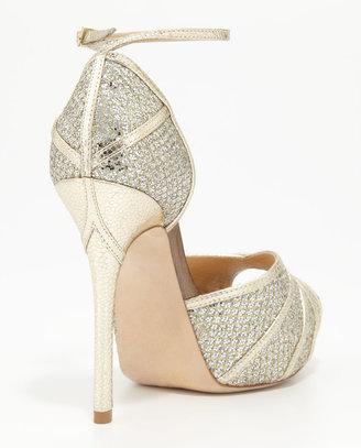 Jimmy Choo Kafta Open-Toe Platform Sandal, Champagne