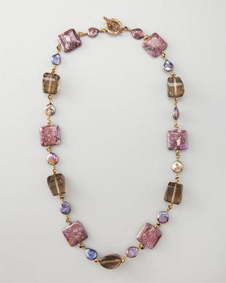 Stephen Dweck Single Strand Multi-Stone Necklace