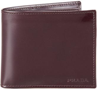 Prada Spazzolato Leather Hip-Fold, Cordovan