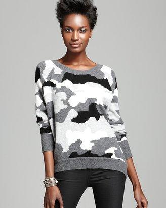 Camo AQUA Cashmere Sweater Intarsia High Low