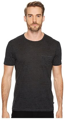 John Varvatos Burnout S/S Crew Tee K303J4B (Charcoal Heather) Men's Clothing