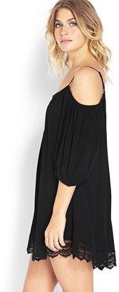 Forever 21 Cold Shoulder Peasant Dress