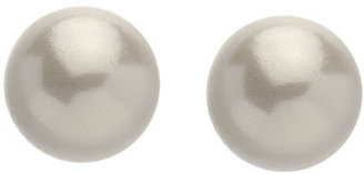 Carolee 14K Yellow Gold and White Pearl Stud Earrings