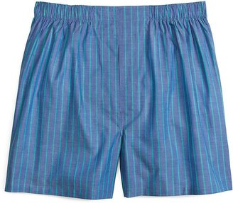 Brooks Brothers Slim Fit Blue and Green Ground Stripe Boxers