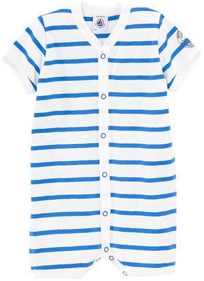 Petit Bateau Baby Sailor-Striped Short Coverall