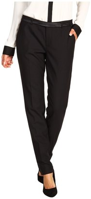 Juicy Couture Sharp Suiting Belted Pant (Black) - Apparel