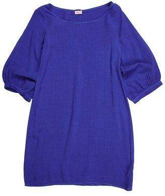 Splendid Littles Three-Quarter Length Sleeve Scoop Dress (Big Kids) (Blue Jay) - Apparel