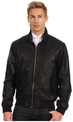 McQ by Alexander McQueen Leather Jacket (Velvet Black) - Apparel