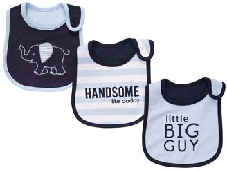 Carter's 3-pk. elephant, stripe & solid teething bibs