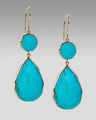 Ippolita Two-Drop Earrings, Turquoise