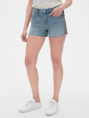 "Gap + Pride Mid Rise 3"" Embroidered Denim Shorts"