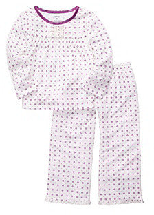 Carter's Girls' 12M-4T Purple 2-pc. Ditsy Floral Print Pajama Set