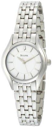 Bulova Women's 96L132 Silver White Dial Bracelet Watch