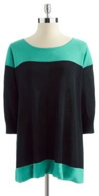 Adrianna Papell Colorblock Pull-Over