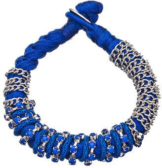 Blu Bijoux Royal Braided Chain and Stud Bracelet