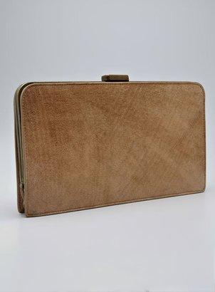 Halston Hidden Frame Leather Clutch