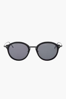 Thom Browne Matte Black Round Sunglasses