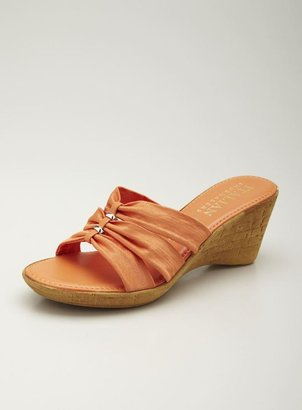 Italian Shoemakers Mid wedge Strap Sandal