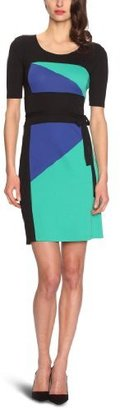 BCBGMAXAZRIA Women's Leticia Color Blocked Dress With Belt