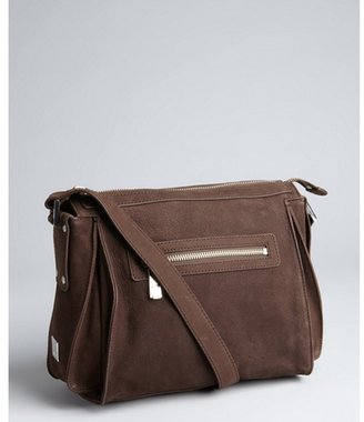 Kooba chocolate pebbled leather 'Brett' crossbody bag