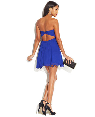 B. Darlin Juniors' Rhinestone Babydoll Dress