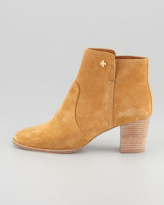 Tory Burch Sabe Suede Bootie, Caramel