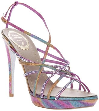 Rene Caovilla Crystal studded sandal