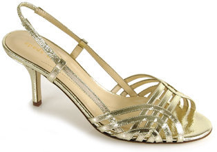 Kate Spade Mode - Gold Leather Metallic Sandal