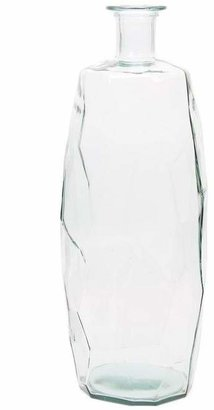 clear San Miguel Recycled Glass Origami Vase 74Cm