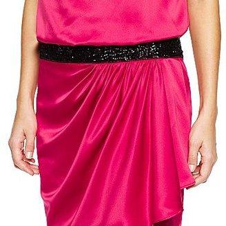 Allen B. Beaded Waist Dress