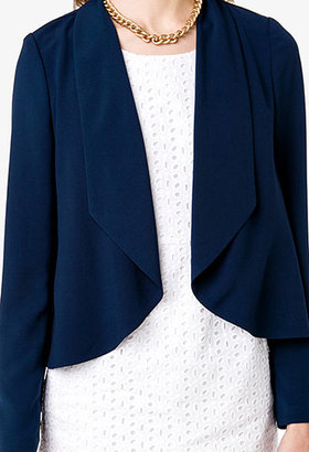 Forever 21 Essential Draped Open Front Blazer