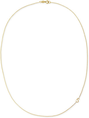 Maya Brenner Designs Mini Number Necklace, Yellow Gold