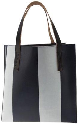 Marni striped shopping bag