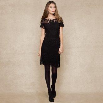 Ralph Lauren Blue Label Crocheted Cotton Dress