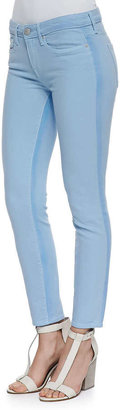 Vince Ghost-Stripe Cropped Skinny Jeans, Chambray