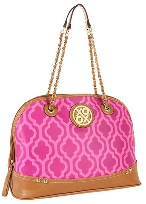XOXO Gold Digger Print Satchel (Fuchsia) - Bags and Luggage
