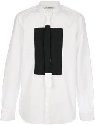 Neil Barrett rectangle tie shirt