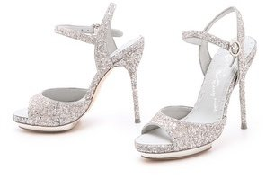 Alice + Olivia Posey Glitter Sandals
